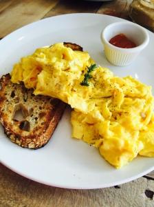 Scrambled Eggs on Zak's Bread